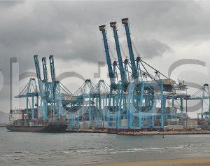 Acceso norte al puerto de Algeciras.
